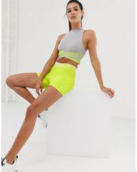 Nike - Nike Pro Training 3 Inch Shorts In Lime - Lyst