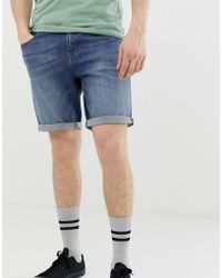 0cddbf96b58 G-Star RAW 3301 Tapered Shorts With Abrasions in Blue for Men - Lyst