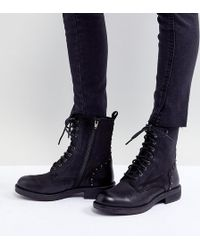 Steve Madden - Leather Flat Boots - Lyst