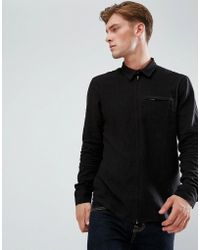 Bellfield - Zip Through Shirt - Lyst