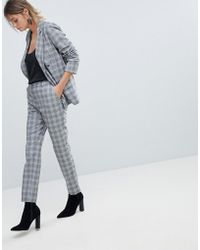 Oasis - Tailored Check Trousers - Lyst