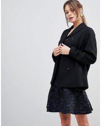 Reiss - Ashby Draped Wool Blend Jacket - Lyst