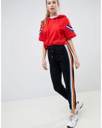 Bershka - Rainbow Stripe Sweatpants - Lyst