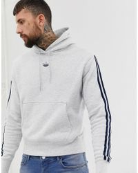 clearance sale later fashion Floating 3 - Hoodie à rayures - Gris