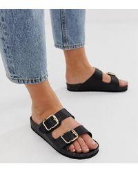 2bf7ab4a0fffd1 Lyst - London Rebel Dolly Cross Strap Flat Sandals in Metallic