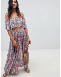ASOS - Beach Two-piece Maxi Skirt In Mosaic Tile - Lyst