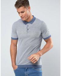 Mango - Man Polo Shirt In Blue - Lyst