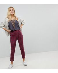 Daisy Street - Tailored Trousers In Check - Lyst