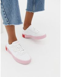 9835c5268883c9 Lyst - PUMA Suede Strap Platform Sneakers In Pink in Pink
