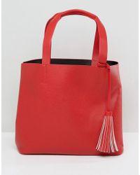 Pieces - Shopper Bag With Tassle - Lyst