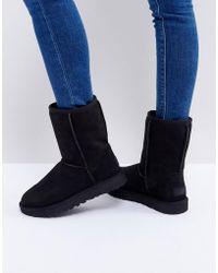 UGG - Classic Short Ii Black Boots - Lyst