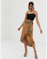 8faf416436 TFNC London. Sequin Pleated Midaxi Skirt In Silver. $95 $38 (60% off).  ASOS. & Other Stories - Curved Hem Midi Wrap Skirt In Tropical Leaf Print -  Lyst