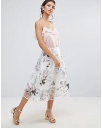 Amy Lynn - Amy Lynn Prom Skirt In Floral Print - Lyst