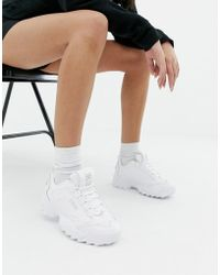 Fila - Triple White Disruptor 3 Trainers - Lyst