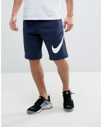 new style 66bbf 57265 Nike - Jersey Shorts With Large Logo In Blue 843520-451 - Lyst