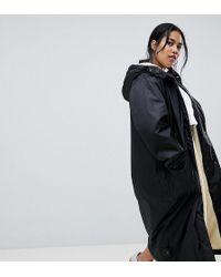 ASOS - Asos Design Curve Maxi Borg Lined Rainwear - Lyst