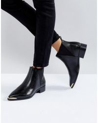 Ivyrevel - Flat Pointed Ankle Boot With Metal Trim - Lyst