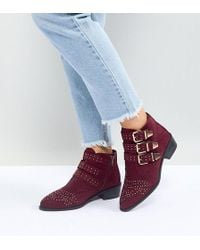 New Look - Studded Western Flat Ankle Boot - Lyst