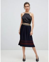 B.Young - Metallic Pleated Skirt - Lyst