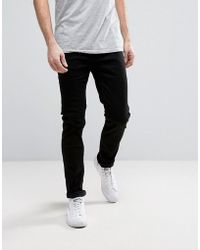 Only & Sons | Slim Fit Stretch Jeans In Black | Lyst