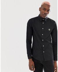 Love Moschino - Slim Fit Shirt In Black - Lyst