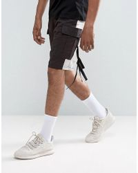 ASOS - Asos Drop Crotch Shorts With Contrast Panels And Strapping Detail - Lyst