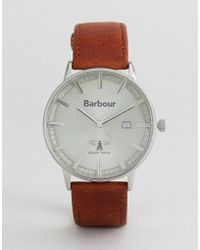 Barbour - Whitburn Watch With Tan Strap - Lyst