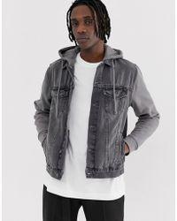 dc2bfee9d9c Lyst - New Look Denim Jacket In Light Wash Blue in Blue for Men