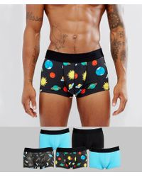 ASOS - Hipsters With Space Print 5 Pack - Lyst