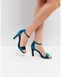 New Look - Velvet 2-part High Heel Sandal - Lyst