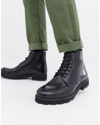 207aab37d3c BOSS Orange By Hugo Boss Tonkin Military Lace Up Boots in Black for ...