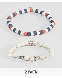 Icon Brand - Beaded Bracelet In Multi In 2 Pack - Lyst