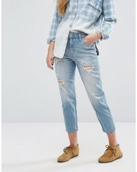 Hollister | High Rise Girlfriend Jeans | Lyst