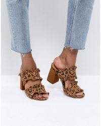 Free People - Rosie Ruffle Sandal In Leopard - Lyst