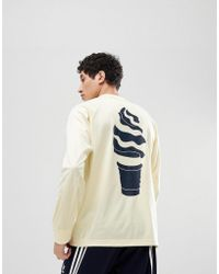 adidas Originals - Hza Valley Long Sleeve Top In Yellow Dn9078 - Lyst