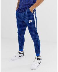 Nike - Joggers a cuadros de vichy en azul BQ0676-480 - Lyst