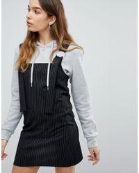 Pull&Bear - Stripe Pinafore - Lyst