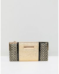 River Island - Mixed Weave Zip Top Purse - Lyst