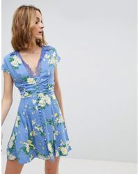 Free People - Alora Mini Printed Dress - Lyst