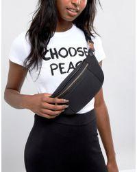 ASOS - Design Scuba Bum Bag With Rose Gold - Lyst