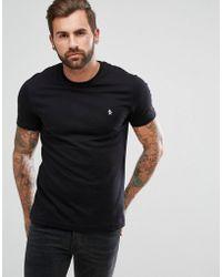 Original Penguin - Small Logo T-shirt Slim Fit In Black - Lyst