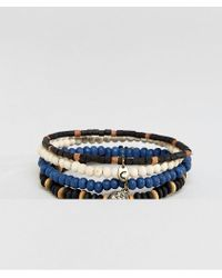 Classics 77 - Beaded Bracelets With Anchor Charm In 4 Pack - Lyst