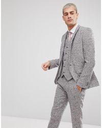 ASOS - Skinny Suit Jacket In Pink Flecked Wool Blend - Lyst