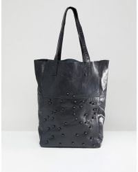 Urbancode - Real Leather Shopper With Tonal Beads - Lyst