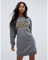 Carhartt WIP - Oversized Sweat Dress With Varsity Logo - Lyst