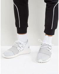 e4b68fb93163 adidas Originals - Tubular Doom Primeknit Trainers In Grey By3553 - Lyst