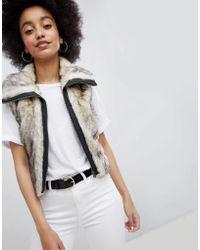 Urban Bliss - Cropped Fur Vest - Lyst