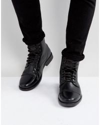 Levi's - Emmerson Leather Boots In Black - Lyst