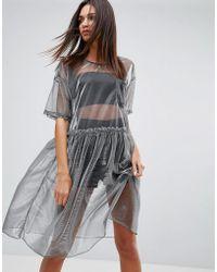 Uncivilised | Mesh Tutu Midi Dress | Lyst