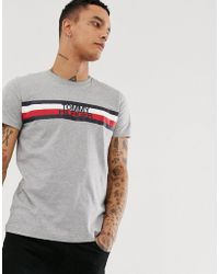 e5d5ac88b1e Tommy Hilfiger Plus Striped Logo Print T-shirt In Navy in Blue for ...